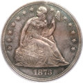 Seated Dollars, 1873 $1 MS64 PCGS. CAC....