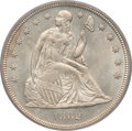 Seated Dollars, 1862 $1 MS64 PCGS Secure. CAC....