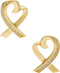 Estate Jewelry:Earrings, Diamond, Gold Earrings, Paloma Picasso, Tiffany & Co.. ...