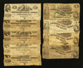 Confederate Notes:1862 Issues, $2 and $1 1862 Notes.. ... (Total: 9 notes)