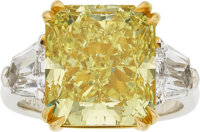Fancy Intense Yellow Diamond, Diamond, Platinum, Gold Ring, Underwood's
