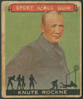 "Football Cards:Singles (Pre-1950), 1933 Goudey ""Sport Kings"" Knute Rockne #35. ..."