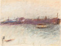 Post-War & Contemporary:Contemporary, WOLF KAHN (American, b. 1927). Venice Off Season. Pastel onpaper. 9 x 12 inches (22.9 x 30.5 cm). Signed lower right: K...