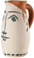 Sculpture, PABLO PICASSO (Spanish, 1881-1973). Face tankard, 1959. Earthware pitcher. 8-1/2 inches (21.6 cm). Ed. 116/300. Inscribe...