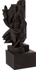 Post-War & Contemporary:Sculpture, LOUISE NEVELSON (American, 1899-1988). The Dark Ellipse, 1974. Polyester resin. 17-1/4 x 6-1/2 x 6 inches (43.7 x 16.5 x...