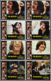 "Let It Be (United Artists, 1970). Lobby Cards (8) (11"" X 14""). Rock and Roll. ... (Total: 8 Items)"