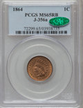 1864 1C J-356A MS65 Red and Brown PCGS. CAC. PCGS Population (1/0). NGC Census: (1/0). (#72299)...(PCGS# 72299)