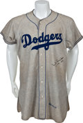 Baseball Collectibles:Uniforms, 1950 Duke Snider Game Worn Brooklyn Dodgers Jersey....