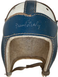 """Football Collectibles:Helmets, 1940's Frank Leahy Endorsed """"MacGregor GoldSmith"""" Leather Helmet...."""