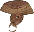 Football Collectibles:Helmets, Early 1900's Flat Top Leather Football Helmet....