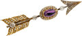 Estate Jewelry:Brooches - Pins, Victorian Amethyst, Diamond, Gold Brooch. ...