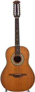 Musical Instruments:Acoustic Guitars, 1970's Ovation Balladeer Natural 12 String Acoustic Guitar, Serial Number #A-779....