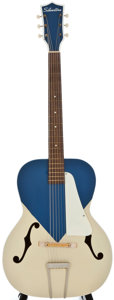 Musical Instruments:Acoustic Guitars, 1960's Silvertone P4 Archtop Acoustic Guitar....
