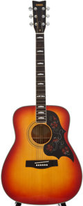 Musical Instruments:Acoustic Guitars, 1980's Yamaha FG-351SB Cherryburst Acoustic Guitar, Serial Number #1288131....