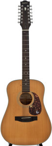 Musical Instruments:Acoustic Guitars, Epiphone PR-350 Natural 12 String Acoustic Guitar, Serial Number #8809000188....