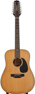 Musical Instruments:Acoustic Guitars, Calamine 385 Natural 12 String Acoustic Guitar, Serial Number#92030305....