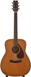 Musical Instruments:Acoustic Guitars, 1980's Yamaha FG-160 Natural Acoustic Guitar, Serial Number #0376271....