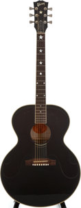 Musical Instruments:Acoustic Guitars, 1999 Gibson J-180 Everly Black Acoustic Guitar, Serial Number#90209025....
