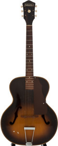 Musical Instruments:Acoustic Guitars, 1950's Harmony Monterey Sunburst Acoustic Guitar....