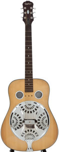 Musical Instruments:Resonator Guitars, Epiphone Natural Resonator Guitar, Serial Number #X93123624....