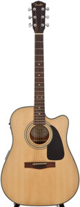 Musical Instruments:Acoustic Guitars, Fender DG-10CE Natural Acoustic Electric Guitar, Serial Number #CD04126272....