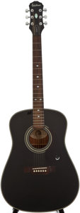 Musical Instruments:Acoustic Guitars, Epiphone PR-350B Black Acoustic Guitar, Serial Number #2052062....