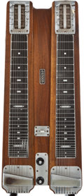 Musical Instruments:Lap Steel Guitars, 1950's Fender Professional Double 8 Walnut Lap Steel Guitar, SerialNumber #1323....
