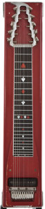 Musical Instruments:Lap Steel Guitars, Sho-Bud Maverick Red Pedal Steel Guitar, Serial Number #1285....
