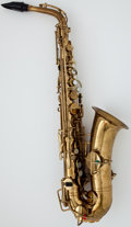 Musical Instruments:Horns & Wind Instruments, Circa 1926 Buescher True-Tone Low Pitch Brass Alto Saxophone, Serial Number #200330....