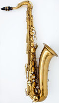 Musical Instruments:Horns & Wind Instruments, Circa 1947 Conn Naked Lady Brass Tenor Saxophone, Serial Number#318900....