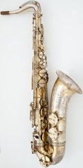 Musical Instruments:Horns & Wind Instruments, 1950's SML Strasser Marigaux Brass Tenor Saxophone, Serial Number #9880....