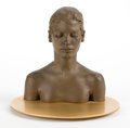 Post-War & Contemporary:Contemporary, ROBERT GRAHAM (American, 1938-2008). Study for the Virgin,1998/1999. Cast bronze with gold plated base. 7-1/2 x 6-1/2 x...