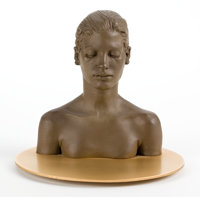 ROBERT GRAHAM (American, 1938-2008) Study for the Virgin, 1998/1999 Cast bronze with gold plated bas