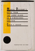 Books:Art & Architecture, Two books on Duchamp, including: Craig E. Adcock. Marcel Duchamp's Notes from the The Large Glass. An N-Dimens... (Total: 2 Items)