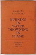 Books:Signed Editions, [John Cassavetes and Gena Rowlands]. Charles Bukowski. Burning in Water, Drowning in Flame. Los Angeles: Black S...