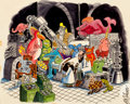 "Pulp, Pulp-like, Digests, and Paperback Art, BERNARD KLIBAN (American, 1935-1990). ""I Spend Twenty SevenYears Making Monsters and What Does It Get Me?...A Room Fullo..."