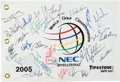 Golf Collectibles:Autographs, 2005 World Championship of Golf Multi Signed Flag....