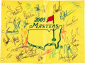 Golf Collectibles:Autographs, 2005 Masters Multi Signed Flag....