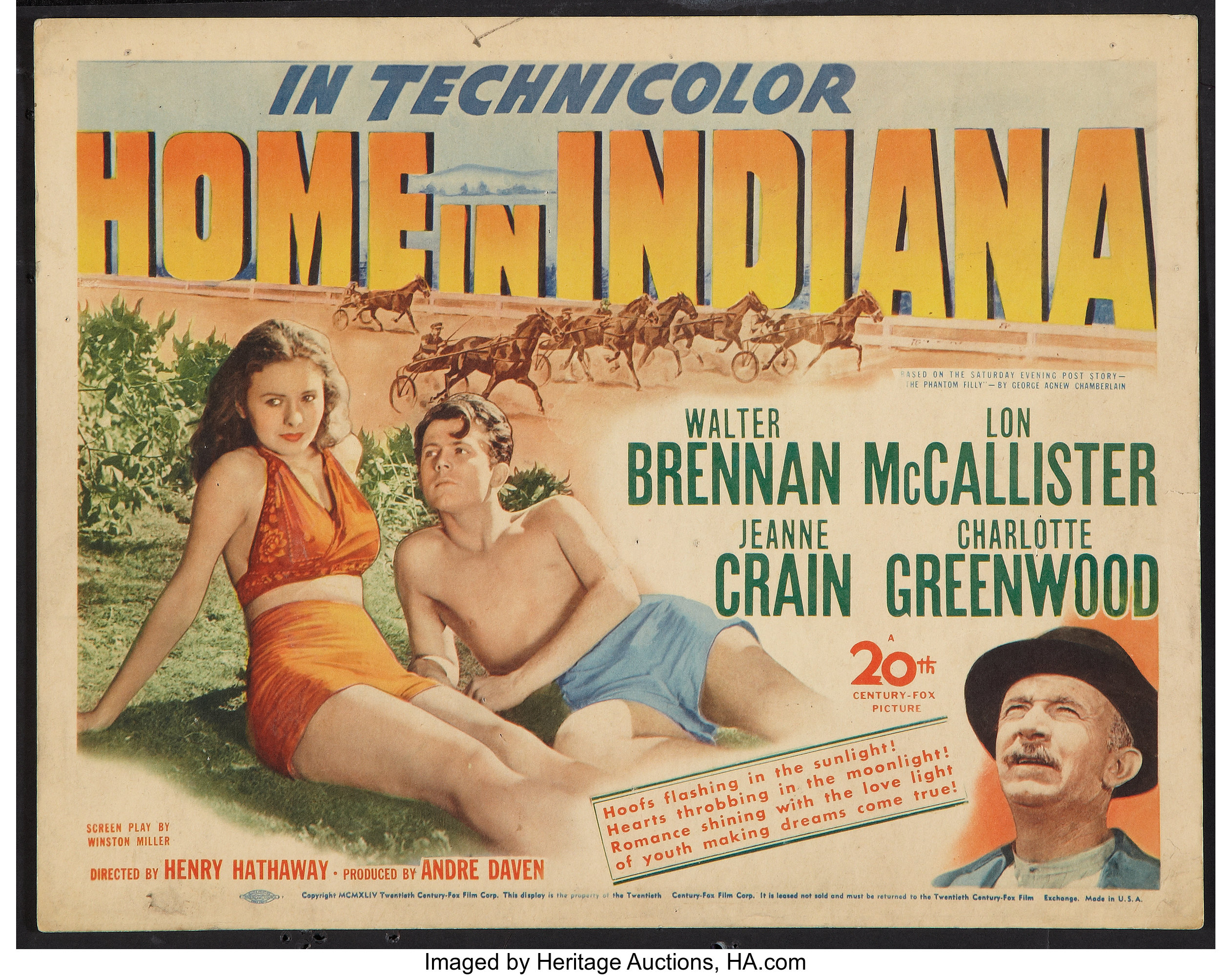 Home in Indiana (20th Century Fox, 1944). Title Lobby Card (11