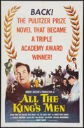 "Movie Posters:Academy Award Winners, All the King's Men (Columbia, 1949 & R-1958). One Sheet (27"" X41"") & Uncut Pressbook (Multiple Pages, 12"" X 16""). AcademyA... (Total: 2 Items)"