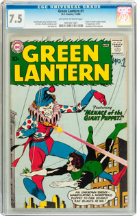 Green Lantern #1 (DC, 1960) CGC VF- 7.5 Off-white to white pages