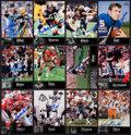 "Autographs:Sports Cards, 1997 Upper Deck ""NFL Legends"" Signed Football Cards Group of (12)...."