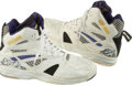 Basketball Collectibles:Others, 1990's Karl Malone Game Worn, Signed Shoes....