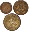Political:Tokens & Medals, Abraham Lincoln and Stephen Douglas: Assorted Campaign Tokens.... (Total: 3 Items)