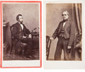 Political:Miscellaneous Political, Abraham Lincoln: Presidential and Vice Presidential Cartes.... (Total: 1 Pair)