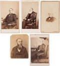 Political:Miscellaneous Political, Abraham Lincoln: Cabinet Member Cartes.... (Total: 5 Items)