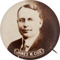 Political:Pinback Buttons (1896-present), James M. Cox: Large Picture Pin. ...