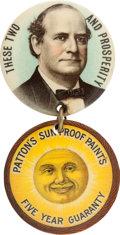 Political:Pinback Buttons (1896-present), William Jennings Bryan: Clever Advertising Badge. ...