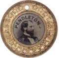 Political:Ferrotypes / Photo Badges (pre-1896), George B. McClellan: Back-to-Back Ferrotype....