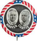 Political:Pinback Buttons (1896-present), Hoover & Curtis: Stars and Stripes Jugate. ...